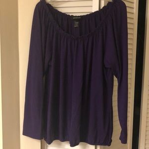 Sweaters - Plum wide neck chic sweater